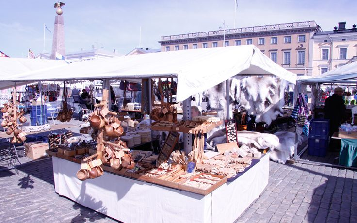 Shopping for crafts at Helsinki Harbour Market, Finland:  http://www.kontikifinland.com/holidays/destination/1192335/finland/7-day-summer-holiday-in-finland