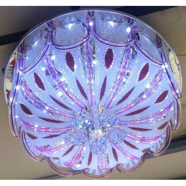 Fabulous surface mounted chandelier RGB (multicolor) with fine lighting and configuration.