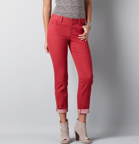 Just bought these, and love them!Fashion Sen, Colors Pants, Red Jeans, Colors Jeans, Loft, Cute Pants, Colors Denim, Beautiful Clothing, Red Pants