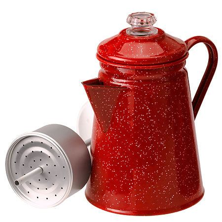 Camping Percolator - Red