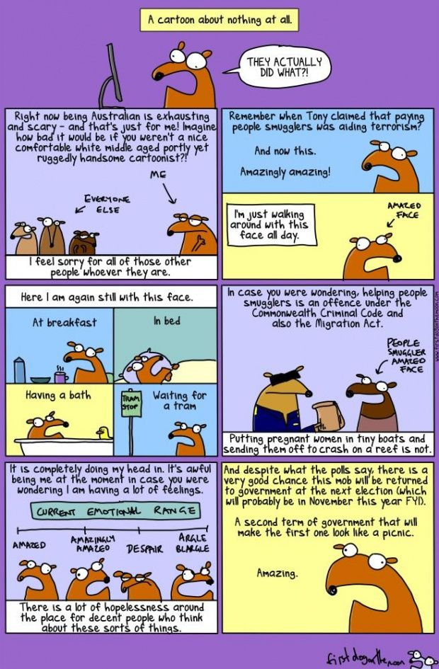 Pay the boats: a cartoon about nothing at all First Dog on the Moon First Dog on the Moon