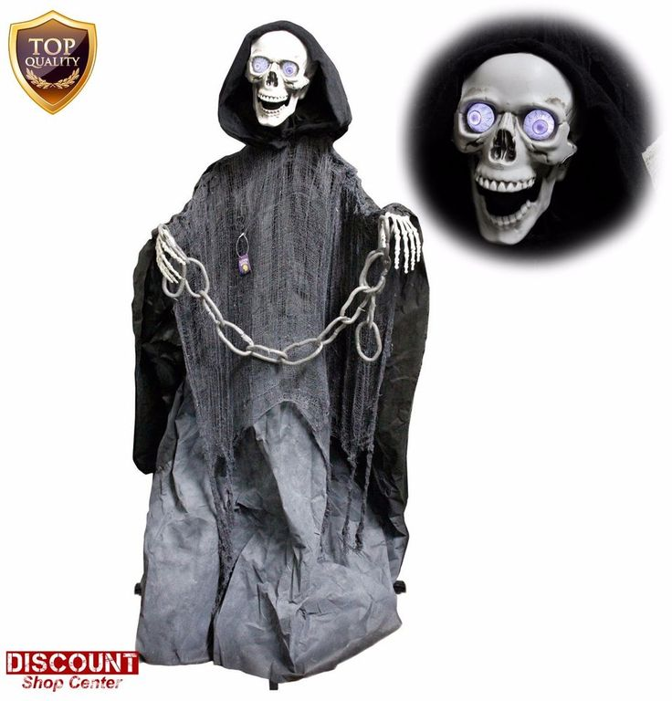 Halloween Home Decoration Skeleton Life Reaper Standing Prop Scary Outdoor New #HalloweenHomeDecoration