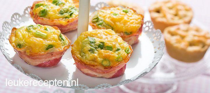paasmuffins met bacon en ei