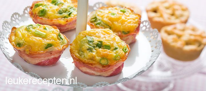 Leuke hartige muffins van bacon en ei; lekker voor met de paasbrunch of ontbijt