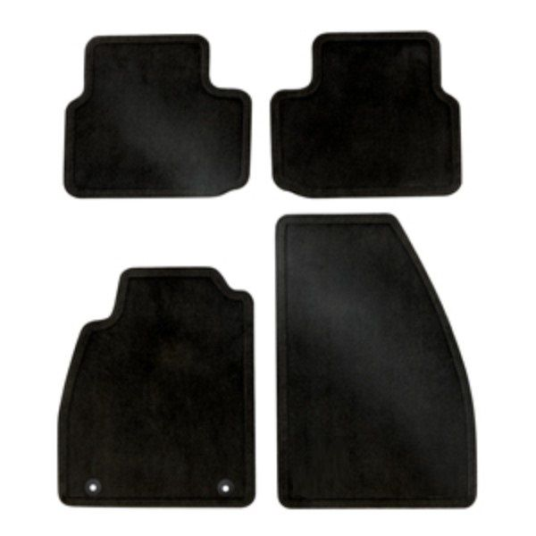 Malibu Front and Rear Carpet Replacement Floor Mats, Cocoa:These Front and Rear Carpet Replacement Floor Mats provide a factory fit for your Malibu with a quality carpeted upper surface to match your interior.