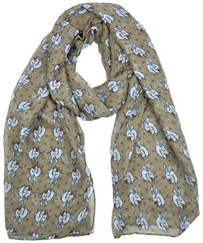 Ladies Womens Colorful Long Soft and Warm Bunny Rabbit Print Beige Scarf Goldkidlondon http://www.amazon.co.uk/dp/B00RHTRLBI/ref=cm_sw_r_pi_dp_CqOGwb04MGCFC