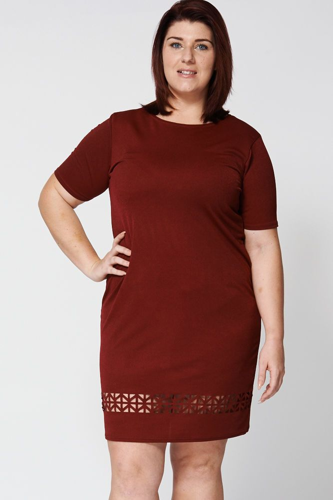 CUT OUT DETAIL TEXTURED DRESS EX-BRANDED Sizes 18,20,22