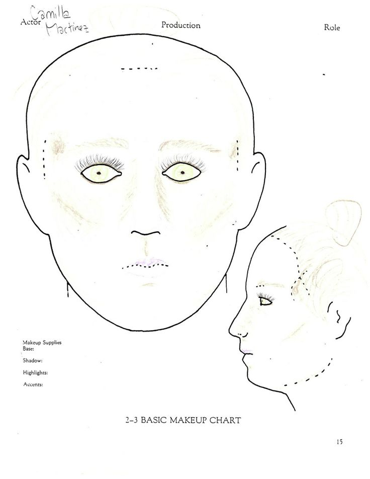 Basic Corrective Makeup Men Google Search: Female Basic Corrective Face Chart