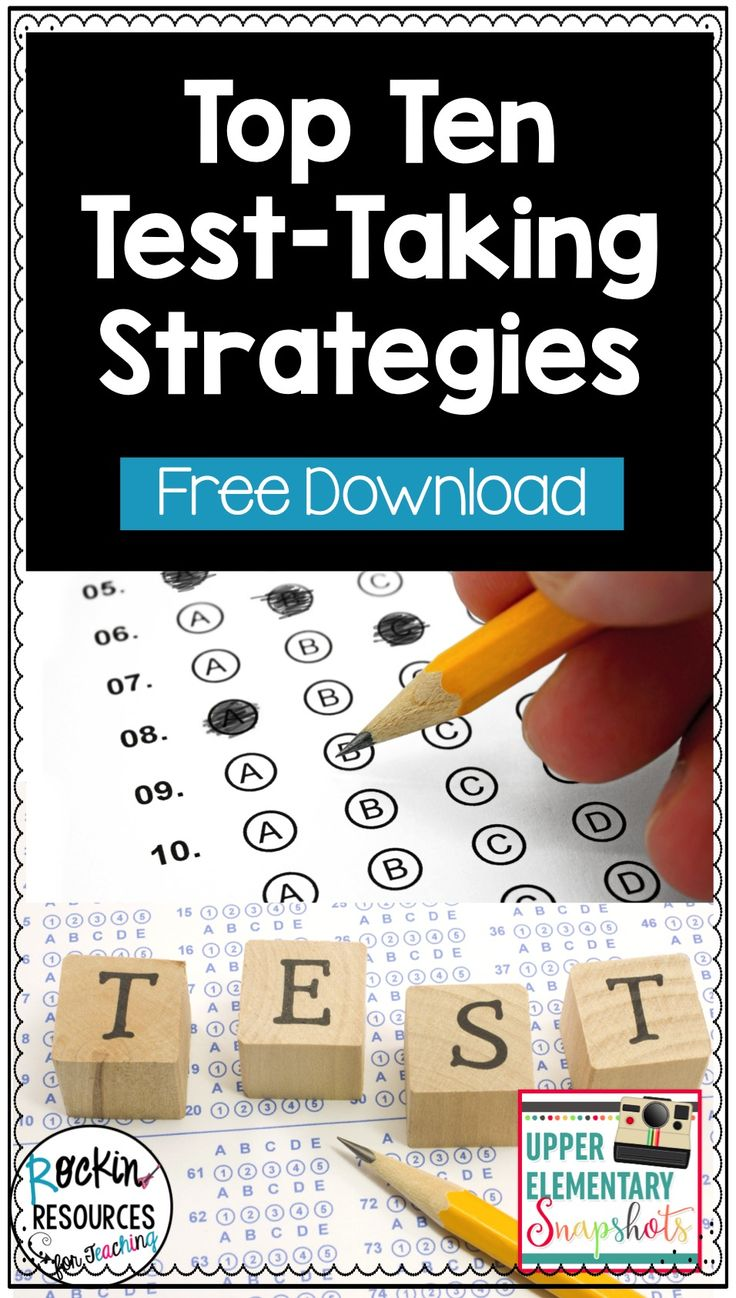 Test Prep & Review Strategies for Grades 6