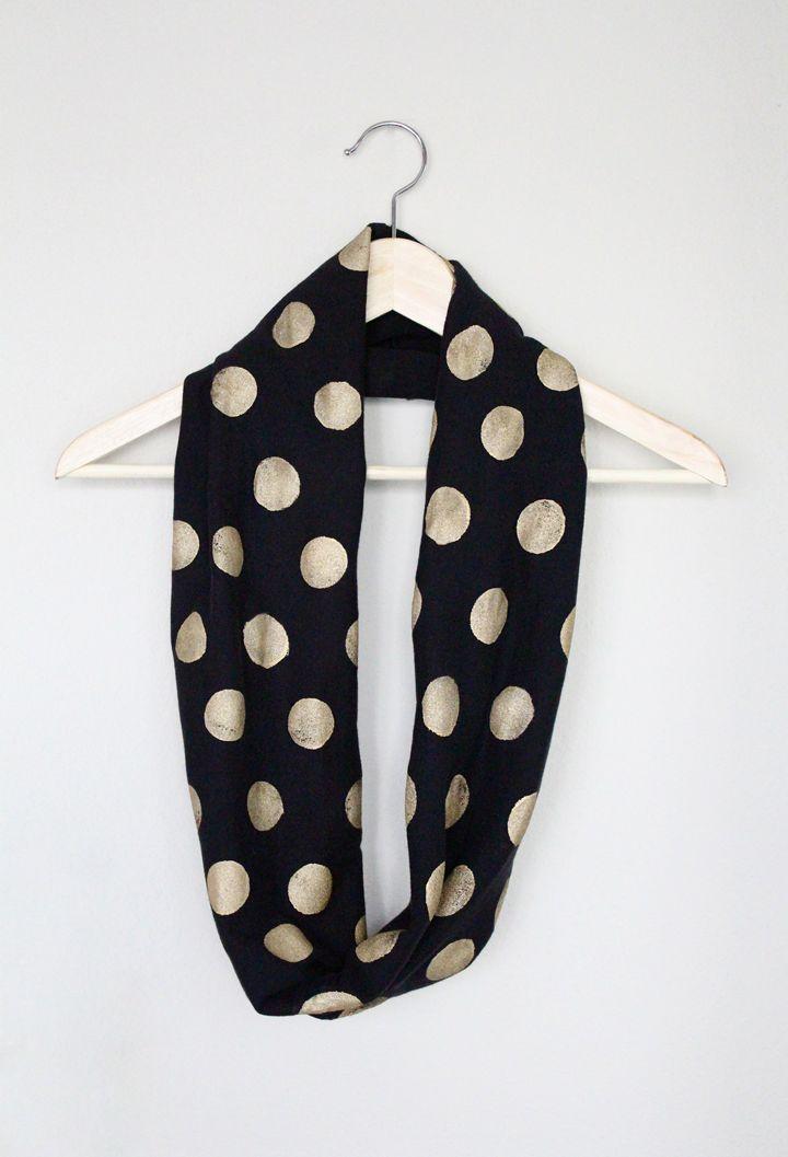 no-sew polka dot infinity scarf
