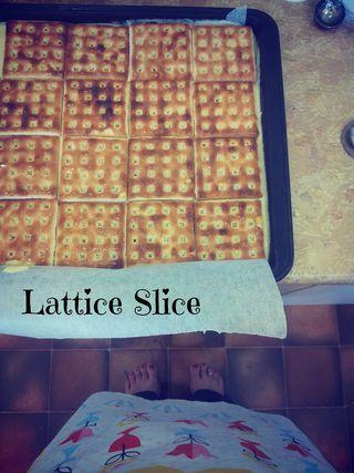 Lattice slice cheesecake thermomix version