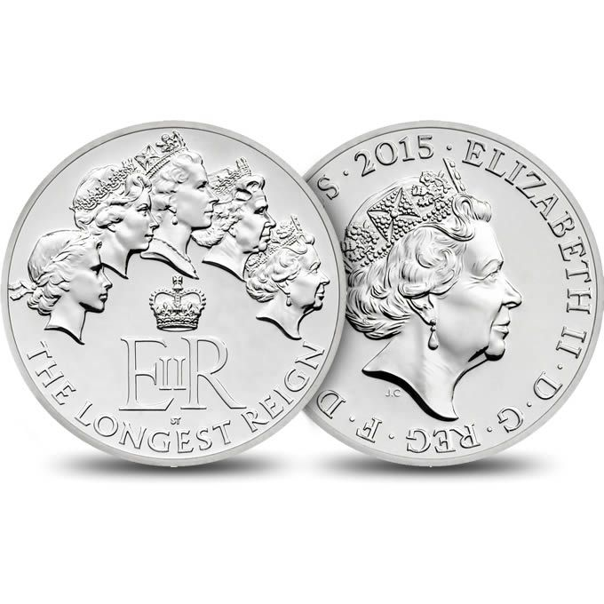 The Longest Reigning Monarch 2015 UK £20 Fine Silver Coin | The Royal Mint