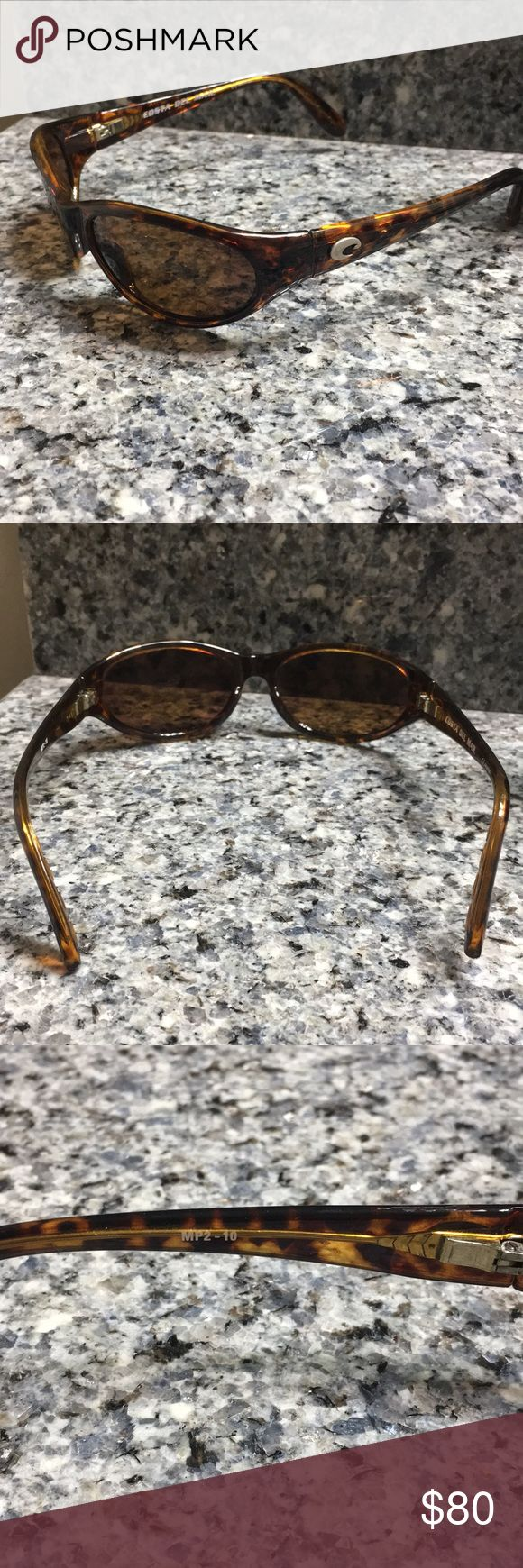 Costa Del Mar MP2-10 Tortoise Women's Sunglasses Gorgeous 100% Authentic Costa Del mar Sunglasses. Tortoise Shell Colored Frames and Amber Lenses. No Scratches,dings or dents. Case Included. $189 Retail Accessories Sunglasses