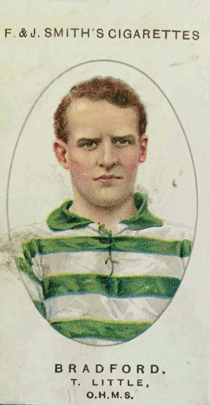 Tommy Little of Bradford Park Avenue in 1913.