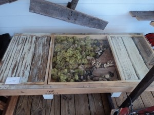 """A """"living"""" table made entirely from recycled wood. Great!"""