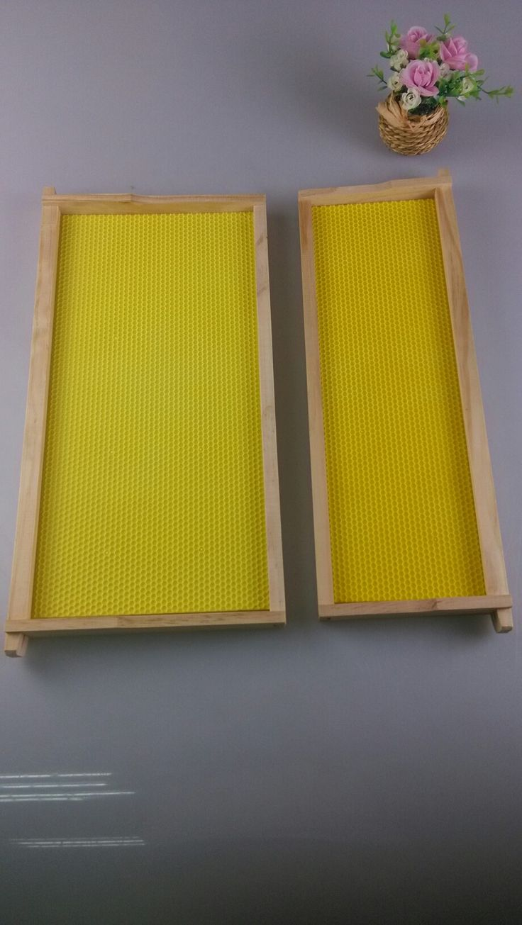 Frames assembled with plastic foundation.