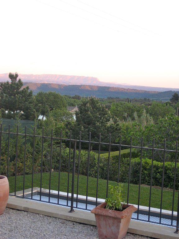 Lourmarin house rental - Mt. St. Victoire at dusk.