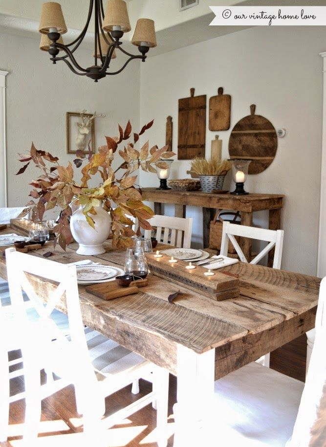 Need to make a table just like this!!!! our vintage home love: Fall Dining Room