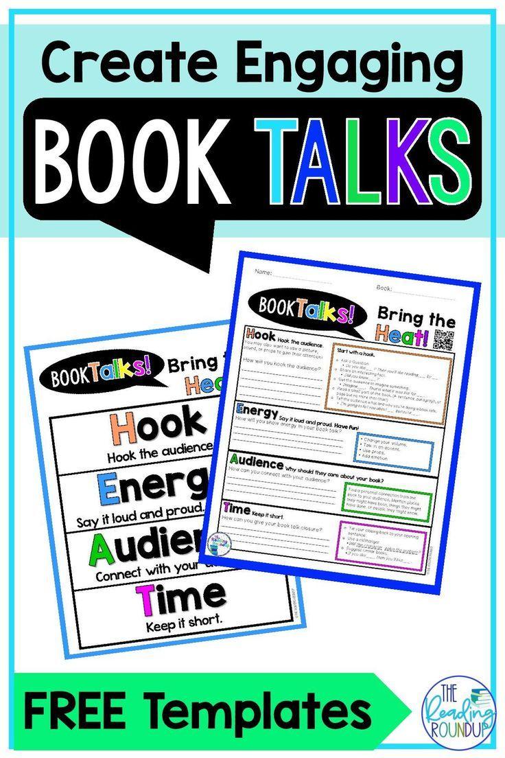 Free Templates To Create Engaging Book Talks Book Talk Elementary Books Teaching Reading [ 1104 x 736 Pixel ]