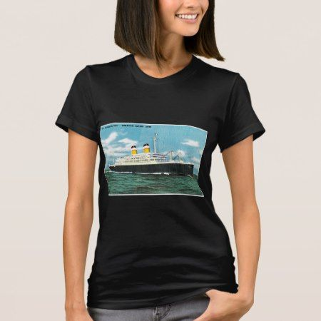 S.S. Constitution Vintage Passenger Ship T-Shirt - click/tap to personalize and buy