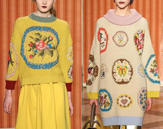 one sheepish girl: Knitting Inspiration - Fashion Week Fall 2013 Knitwear Favorites