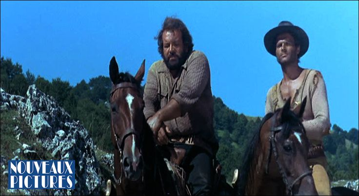 """""""They Call Me Trinity"""" and """"Trinity is still My Name"""" Terence Hill and Bud Spencer star in these blockbuster comedy westerns that launched the genre of the comedy Spaghetti Western. Hill is Trinity, a lazy drifter, card sharp and the fastest draw alive, and Spencer his half-brother Bambino, outlaw, horse-thief and the toughest guy in the west."""