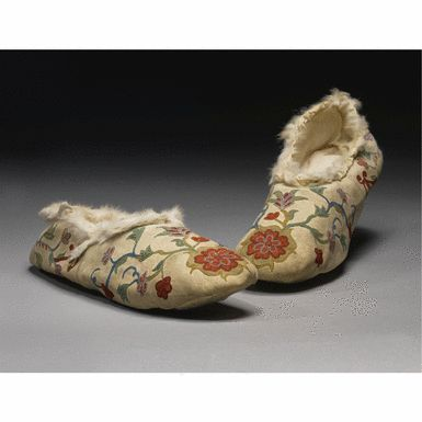 Red River Metis Embroidered Moccasins