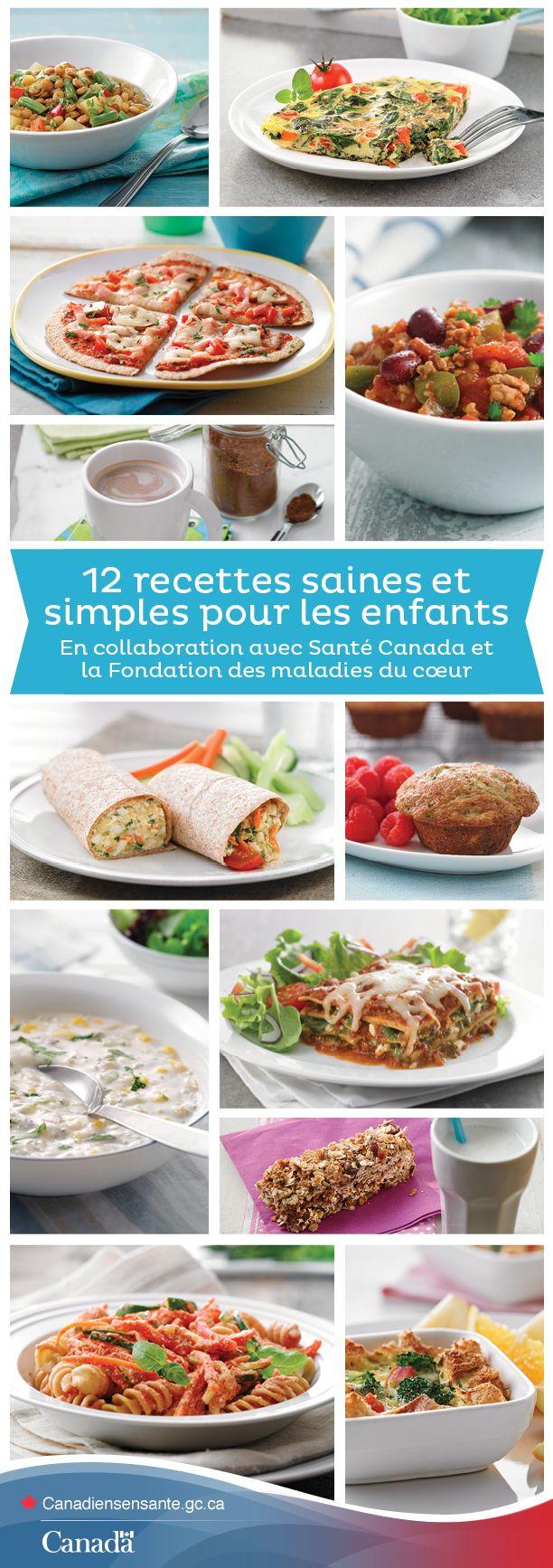 Découvrez des recettes savoureuses et simples pour les enfants ici :  http://www.canadiensensante.gc.ca/eating-nutrition/healthy-eating-saine-alimentation/recipes-recettes-fra.php?utm_source=pinterest_hcdns&utm_medium=social&utm_content=Feb27_Recettes_FR&utm_campaign=social_media_14