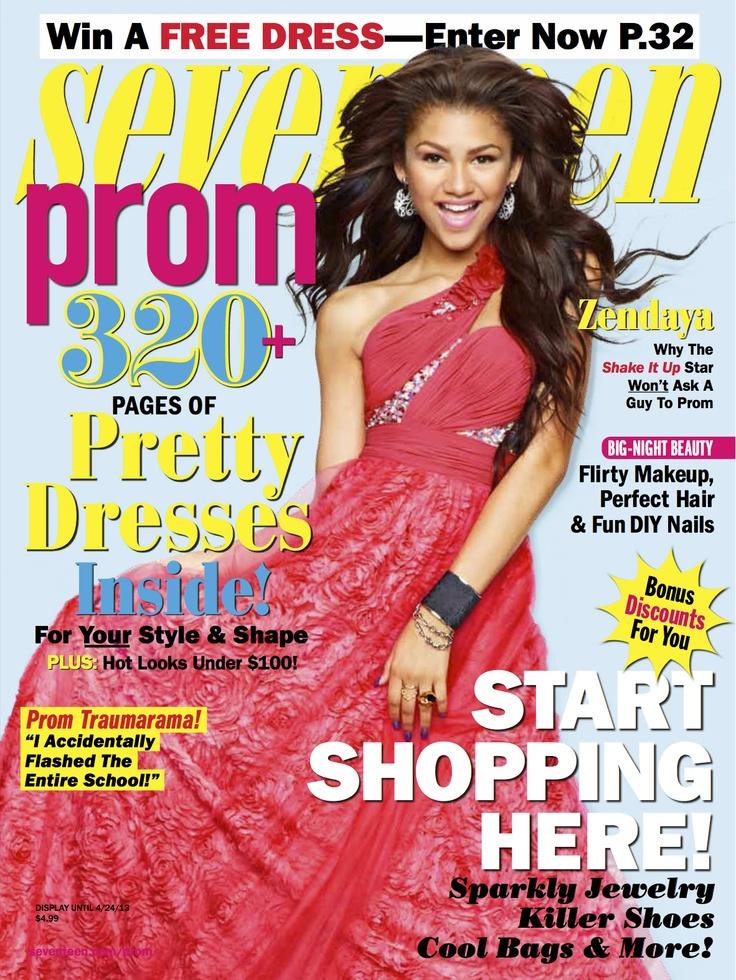 Zendaya's Seventeen prom cover!