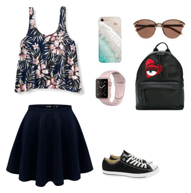 Casual outfit by dindameitiza on Polyvore featuring polyvore, fashion, style, Aéropostale, Converse, Chiara Ferragni, Gray Malin, Witchery and clothing