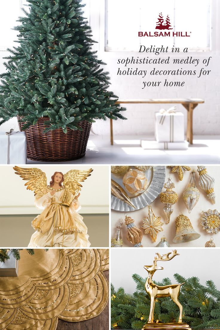 Captivate your loved ones with the beauty of Balsam Hill's #Christmas décor. Each piece features unique designs that suit many holiday decorating styles. Avail of Free Shipping, and shop our wide collection of ornaments, trim, and accessories, and enliven your home this season.