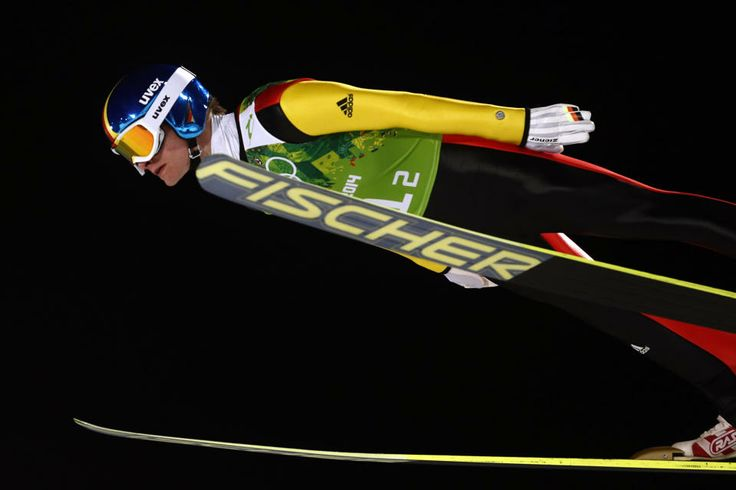 DAY 11:  Marinus Kraus of Germany competes during Ski Jumping Men's Team Large Hill http://sports.yahoo.com/olympics