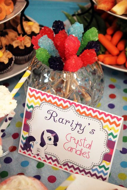 my little pony friendship is magic food idea Rarity's crystal candies