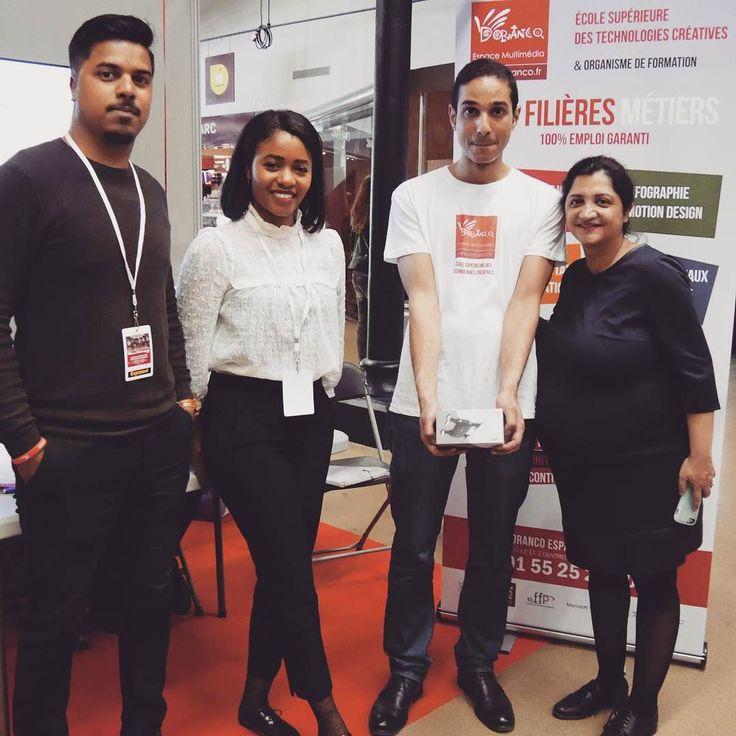 Mohammed est le gagnant de notre tirage au sort il remporte un mini-drone #selfie #drone #student #digital #school #salon #communication #job #alternance #geek #motiondesign #mobile  #paris #parcfloral #bagnolet Félicitations