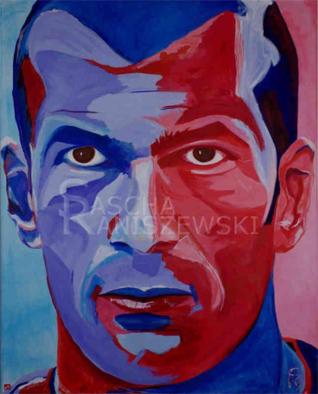 ZINEDINE ZIDANE Acryl auf Leinwand, 100x80 cm gemalt von Sascha Raniszewski #zidane #fußball #topstar #soccer #zizou #10