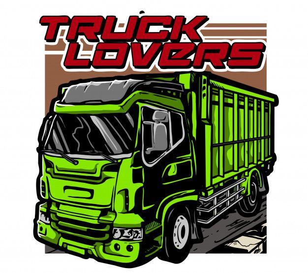 Truck Lovers Cool Trucks Truck Vector Truck Design