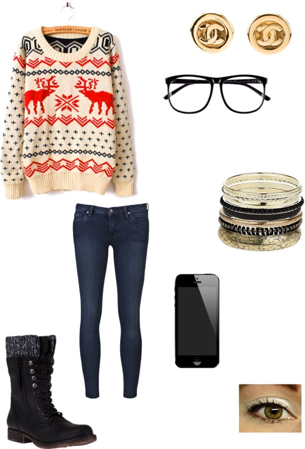 """""""chilly day outfit :)"""" by jadetaliulu ❤ liked on Polyvore"""