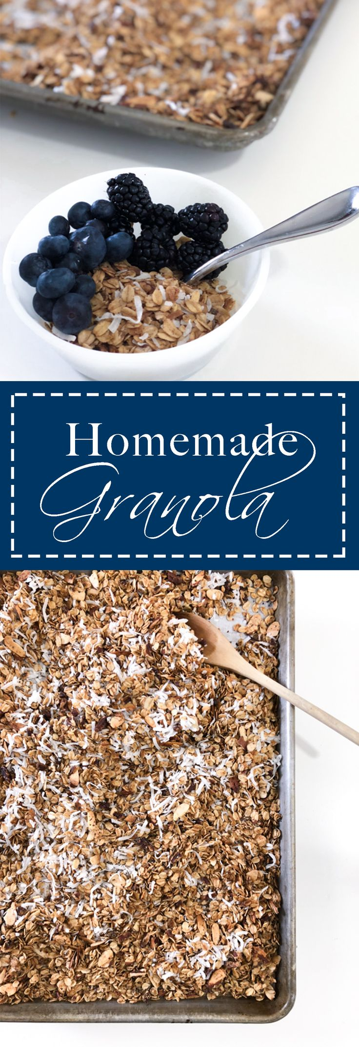 Skip the store-bought version and make this delicious homemade granola yourself! Free of refined sugars and oils, packed with healthy fats and nutrients. You won't be sorry and will be begging for more!