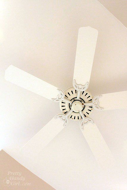 Pretty Handy Girl ceiling fan makeover
