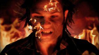 Sam in Lucifer's cage.   Supernatural
