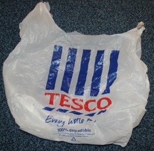 Old logo on carrier bag