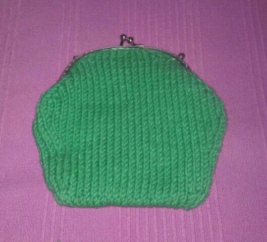 Mi segunda bolsa // My second knitted purse