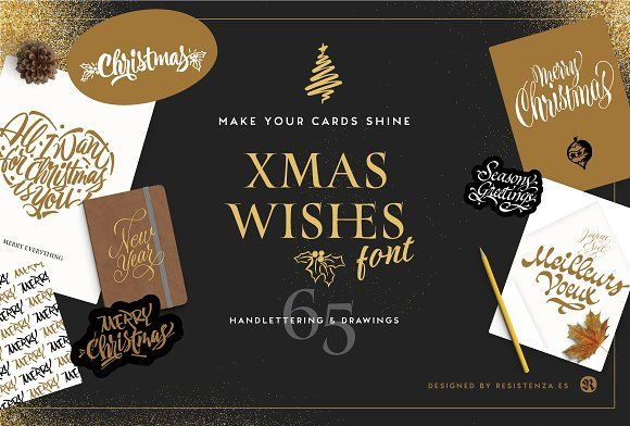 Xmas Wishes Font by Rsz Type Foundry on @creativemarket