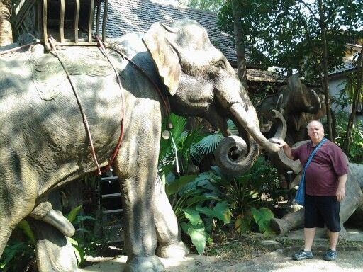 Elephant carving factory