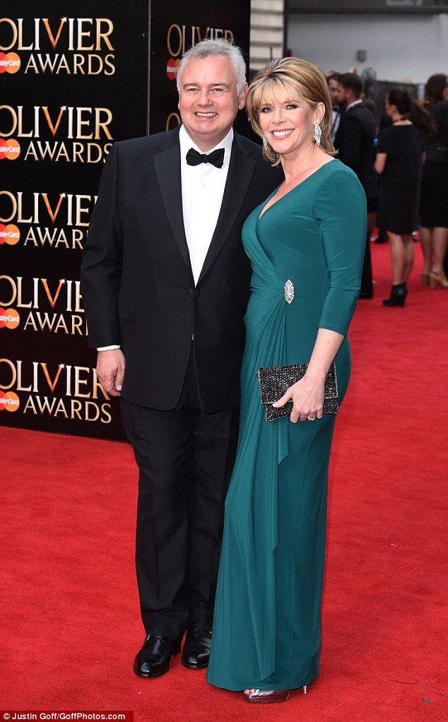 TV couple:Eamonn Holmes looked dapper alongside gorgeous wife Ruth Langsford