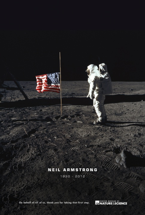 Well played -- Neil Armstrong Saluted in Denver Science Museum's Tribute Ad