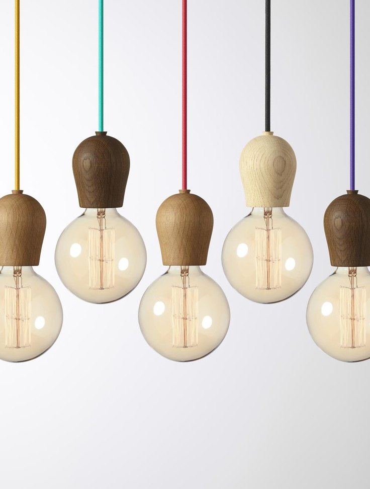 Nordic Tales - Hanglamp Bright Sprout Oak Soaped met paarse snoerdraad.   LightPoint Europe - verlichtingswinkel - groothandel verlichting - lichtstudies
