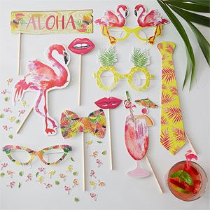 Accessoires Photobooth Flamant Rose