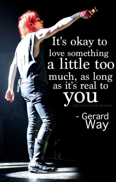 so, i can like MCR more then my family and not be judge by MCR? YAY!