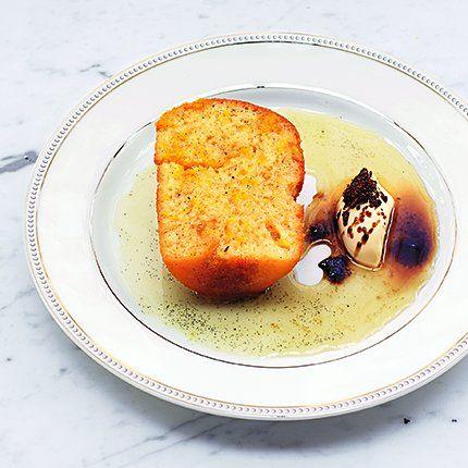 Baba au rhum et vanille, Une recette des chefs Inaki Aïzpitarte et Guillaume Rouxel du restaurant Le Dauphin* à Paris